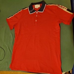 Red Gucci polo size large